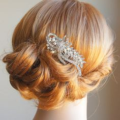 Bridal Hair Comb Vintage Style Wedding Hair by GlamorousBijoux