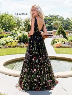 45763c693cbc 3565 - Black embroidered prom ball gown with an open back Prom Dresses  2017, Grad