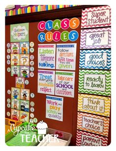 Love the look of these classroom rules! LOVE the Subway art look!