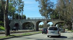 Pacific Electric Railroad Bridge in Torrance, California was designed by IRVING GILL and built in 1912 as part of the new town of Torrance.