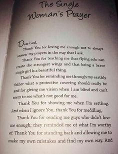 Single women prayer