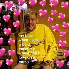 34 Ideas for memes love wholesome Love U So Much, Love You, Lil Peep Lyrics, Lil Peep Beamerboy, Lil Peep Hellboy, Heart Meme, Snapchat Stickers, Cute Love Memes, Crush Memes