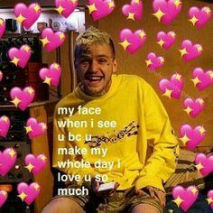 34 Ideas for memes love wholesome Love U So Much, Love You, Lil Peep Lyrics, Lil Peep Beamerboy, Lil Peep Hellboy, Heart Meme, Cute Love Memes, Snapchat Stickers, Crush Memes