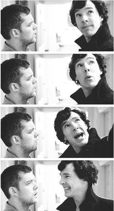 His face! Oh Sherlock...