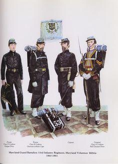 PLATES- CMH: Maryland Guard Battalion, 53rd Infantry Regiment, Maryland Volunteer Militia, 1860-1861, by James J. Hennessey.