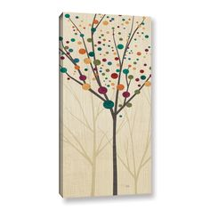 ArtWall Studio Pela's Flying Colors Tree Light II, Gallery Wrapped