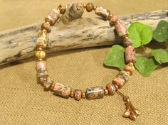 Unike Jasper Copper Rondelles with Copper Bell by sharonmetcalf, $19.95