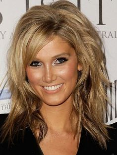 Medium Hairstyles for Women Over 40 with thick hair and round face   Great Long Layered Hairstyles -Hairstyles for Long Hair