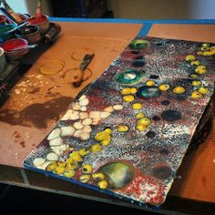 Work in progress...encaustic work by Elizabeth Schowachert