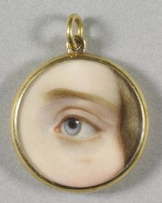 Victorian Jewelry, Antique Jewelry, Vintage Jewelry, Lovers Eyes, The Royal Collection, Miniature Portraits, Eye Painting, Mourning Jewelry, Accesorios Casual
