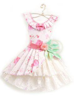 Paper Dresses Art | Kell Belle Studio: Sweet Lolita in Pink Floral