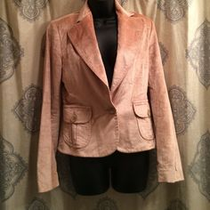 Beautiful Blush Pink Corduroy blazer. Great condition.  Awesome with jeans and the color is so pretty. Pit to pit is 18. Length is 23 Banana Republic Jackets & Coats Blazers