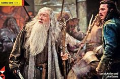 First Still released from The Hobbit: The Battle of the Five Armies featuring Gandalf & Bard.
