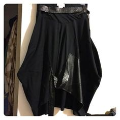 Ivan Grundahl skirt Ivan Grundahl asymmetrical skirt with leather patches,crazy design,unusual cut,huge pockets Ivan Grundahl Skirts Asymmetrical