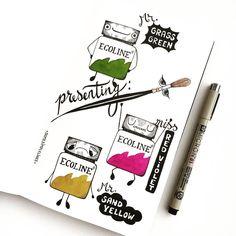 drawings by Peet (@somesimplelines) op Instagram: 'My humble ode to ecoline.'