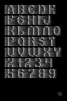 I find this bullet imprint type very vibrating.  I like how the letters are made more important than the vertical lines ext to them.