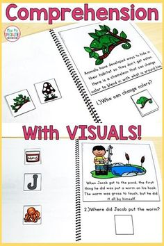 Target reading comprehension and listening comprehension with these short texts. There are 8 books included and cover 3 different topics: habitats, frogs and pond. Picture choices are perfect for students who need support in order to demonstrate comprehension. These adapted books are perfect for special education, special needs, autism programs, speech therapy, RTI, guided reading, reading centers, first grade and second grade. #reading #specialeducation #speechandlanguage