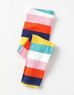 Rainbow Stripe Fun Leggings Boden- Either girl- size 5 or 6/7