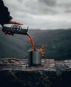 Is there anything better than a fresh cup of coffee and a view? Coffee Spoon, Coffee Art, Coffee Cups, Coffee Maker, Food Photography Styling, Product Photography, Food Styling, Amazing Photos, Cool Photos