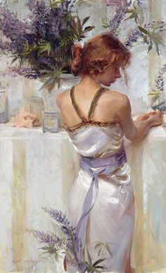 Daniel F. Gerhartz, 1965 ~ Ladies with flowers