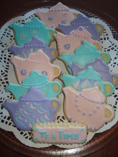 Teapot Vanilla Decorated Sugar Cookies