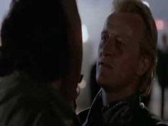 I love the end of WANTED DEAD OR ALIVE where Rutger Hauer is a Bounty Hunter tracking terrorist Gene Simmons ( From Kiss ) and he finally brings him into custody so he was also promised a BONUS if he brought him in early but I love his last minute decision, great ending. Gene Simmons plays an bad ass villain.