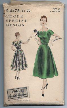 Vintage Vogue Special Design S4475 Cocktail Dress by RomasMaison, $42.00
