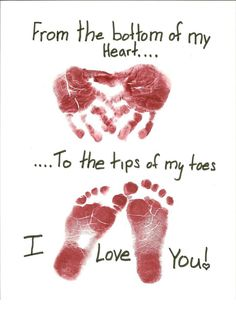 [Image Only] Lovely #MothersDay handprint/footprint gift! #preschool #kidscrafts