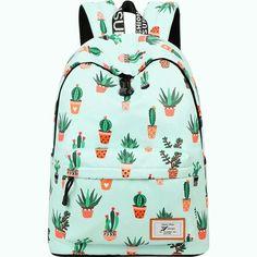 Cute Backpacks For College, Cool Backpacks, Backpacks For Girls, College Bags, Outdoor Backpacks, Back To School Backpacks, Leather Backpacks, Leather Bags, Cactus Backpack