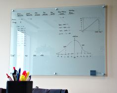 Glass dry-erase board.
