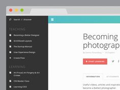Sidebar Navigation by  Wouter de Bres