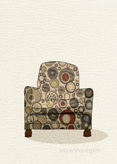 modern chair 01 (bubble burst) -| mywireempire via Etsy.