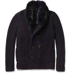Burberry ProrsumRabbit-Collar Cashmere Cardigan MR PORTER