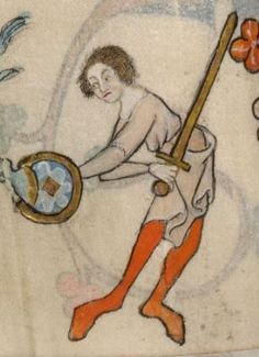 Detail from The Luttrell Psalter, British Library Add MS 42130 (medieval manuscript,1325-1340), f63v