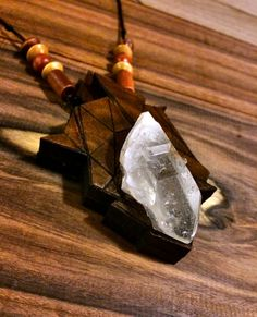 Abstract Quartz Spike Pendant Quartz, Abstract, Pendant, Unique Jewelry, Wood, Handmade Gifts, Etsy, Vintage, Summary