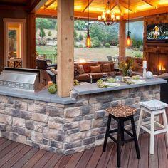Outdoor Kitchen & Living room - www.paradiserestored.com