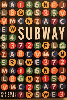 Christoph Niemann SUBWAY
