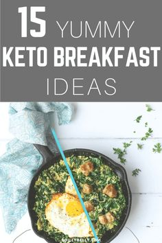Don't be afraid about can not eating your favorite sweets or fatty snacks cause you're on your diet, these 15 yummy keto breakfast ideas will blow up your mind. Low Carb Breakfast, Breakfast Recipes, Breakfast Ideas, Breakfast Time, Paleo Recipes, Low Carb Recipes, Banting Recipes, Low Carb Diet, Ethnic Recipes