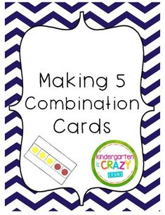 Students practice adding within 5 with these two colored dot combination cards. Great for quick daily practice to become familiar with different number combinations that make 5. Can be used as an easy Math Center or Station! Tip: Flip cards over