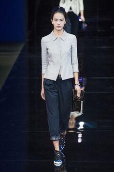 Défilé Emporio Armani, prêt-à-porter printemps-été 2015, Milan. #MFW #Fashionweek #runway