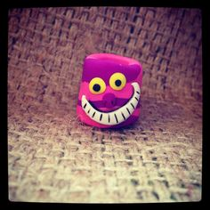 Cheshire Cat dread bead  by thisthatandthese on Etsy, $5.00 :: Shop DreadStop.Com for Leather Dreadlock Cuffs, Ties & Dread Beads #dreadstop