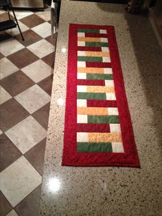 Very fast and easy table runner.