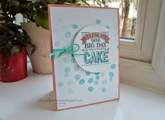 Stampin' Up UK Demonstrator Sarah-Jane Rae Cards and a Cuppa blog: Stampin' Up! Sale-a-Bration sets: Big Day and Best Day Ever to make a Birthday Card