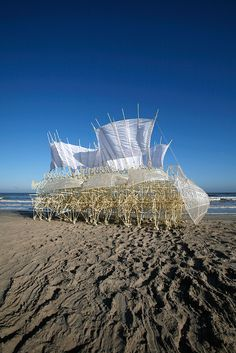 Theo Jansen. Asombrosas criaturas/ Espacio Fundación Telefónica Kinetic Architecture, Art And Architecture, Wind Sculptures, Sculpture Art, Theo Theo, Artistic Visions, Mediums Of Art, Kinetic Art, A Level Art