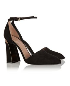 Chic sweats: Marni metal-trimmed suede Mary Jane pumps / Garance Doré