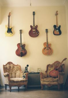 guitars #wallart (would be awesome in a store, if I knew anything about music)