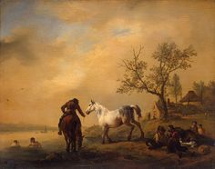 Horses at a Watering-Place    Philips Wouwerman