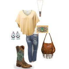 Country time- plus size, created by gchamama on Polyvore