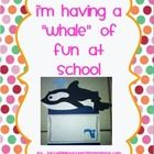 """Having a """"whale"""" of fun at school! Whale Craftivity Packet!  justwildaboutteaching.blogspot.com"""
