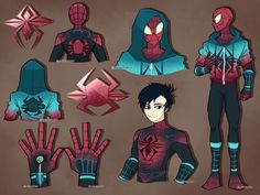 Might make more, bunch of ideas in my head. Spider-Man: Into the Spider-Verse was a great movie. Spider-Man (c) Marvel Design (c) me Spidersona Design Costume Super Hero, Marvel Art, Marvel Comics, Spider Art, Spider Webs, Spiderman Suits, Spider Costume, Superhero Design, Wow Art